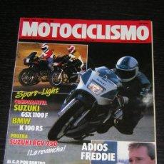 Coches y Motocicletas: MOTOCICLISMO Nº 1050 - ABR 1988 - SUZUKI GSX 1100 F / BMW K 100 RS / SUZUKI RGV 250. Lote 11427100