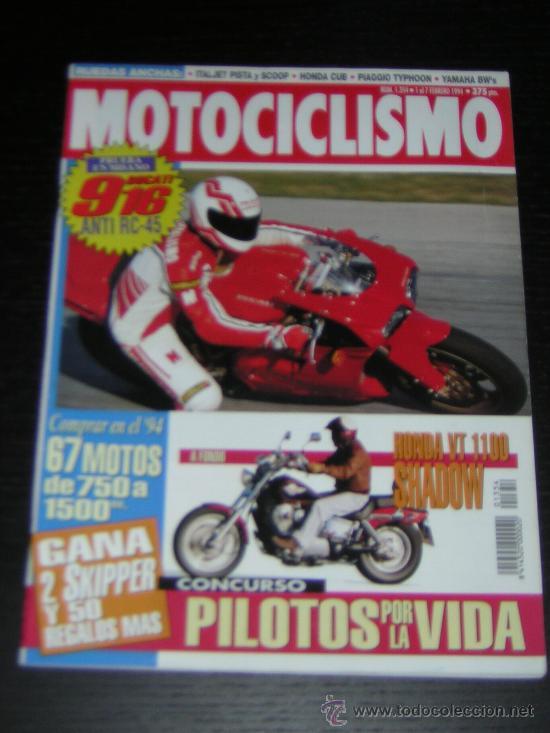 MOTOCICLISMO Nº 1354 - FEB 1994 - DUCATI 916 / HONDA VT 1100 SHADOW / APRILIA CLIMBER 280 R (Coches y Motocicletas - Revistas de Motos y Motocicletas)