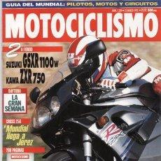 Coches y Motocicletas: REVISTA MOTOCICLISMO Nº 1309 AÑO 1993. PRUEBA: SUZUKI GSXR 1100. KAWASAKI ZXR 750. COMP: TRIAL 125.. Lote 25237192