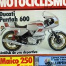 Coches y Motocicletas: MOTOCICLISMO 726 31-10-81 MAICO 250 MD DUCATI PANTAH 600. Lote 163724844