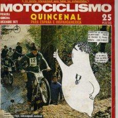 Coches y Motocicletas: MOTOCICLISMO 1º DICIEMBRE 1972. Lote 12241420