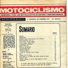 Coches y Motocicletas: MOTOCICLISMO 1º FEBRERO 1973 SIN PORTADAS MONTESA COTA 123 , DUNSTALL HONDA FOUR, POSTER LANSIVUORI. Lote 12241472