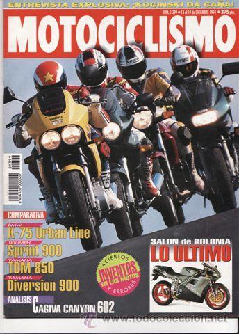 REVISTA MOTOCICLISMO Nº 1399 AÑO 1994. COMP: BMW K 75 URBAN LINE. TRIUMPH SPRINT 900, YAMAHA TDM 850 (Coches y Motocicletas - Revistas de Motos y Motocicletas)