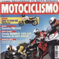 Coches y Motocicletas: REVISTA MOTOCICLISMO Nº 1412 AÑO 1995. COMP: KAWASAKI ZX-9R,SUZUKI GSXR 1100 W,YAMAHA FZR 1000 EXUP.. Lote 171680983