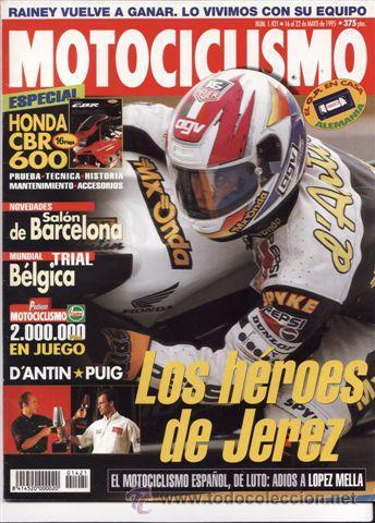 REVISTA MOTOCICLISMO Nº 1421 AÑO 1995. PRUEBA: DUCATI 750 SS. ESPECIAL: HONDA CBR 600 F. (Coches y Motocicletas - Revistas de Motos y Motocicletas)