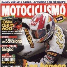 Coches y Motocicletas: REVISTA MOTOCICLISMO Nº 1421 AÑO 1995. PRUEBA: DUCATI 750 SS. ESPECIAL: HONDA CBR 600 F.. Lote 20570254