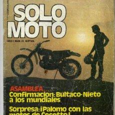 Coches y Motocicletas: SOLO MOTO Nº 21 19-12-75 HUSQVARNA 360 AUTOMATIC MORINI 125 MONTESA CAPPRA 250. Lote 12452323
