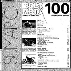 Coches y Motocicletas: SOLO MOTO Nº 100 BULTACO STREAKER 74 Y 125 MONTESA COTA 74. Lote 12453134