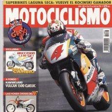Coches y Motocicletas: REVISTA MOTOCICLISMO Nº 1483 AÑO 1996. NOVEDAD: BMW K-1200-RS. KAWASAKI VN 1500. GAMA: HONDA CROSS. . Lote 20700782