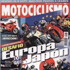 Coches y Motocicletas: REVISTA MOTOCICLISMO Nº 1534 AÑO 1997. PRU: SUZUKI KATAMA LC. COMP: BMW K 1200 RS, HONDA CRB 1100 XX. Lote 86929596