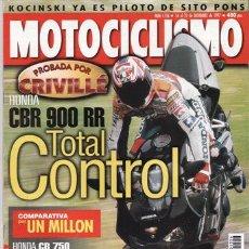 Carros e motociclos: REVISTA MOTOCICLISMO Nº 1556 AÑO 1997. PRUEBA: HONDA CBR 900 RR (98). 50.000 KM SUZUKI GSX R 750.. Lote 25102640