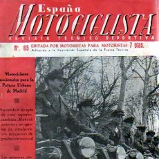 Coches y Motocicletas: REVISTA ESPAÑA MOTOCILISTA Nº 65. Lote 13806080