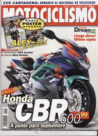 REVISTA MOTOCICLISMO Nº 1577 AÑO 1998. PRUEBA: HONDA CBR 400 RR. TOMA DE CONTACTO: DUCATI 900 SS. (Coches y Motocicletas - Revistas de Motos y Motocicletas)
