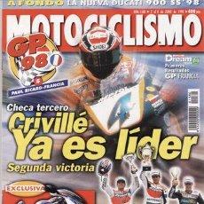 Coches y Motocicletas: REVISTA MOTOCICLISMO Nº 1580 AÑO 1998. PRUEBA: DUCATI 900 SS. CONTACTO: BMW C1.. Lote 20878327