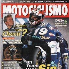 Coches y Motocicletas: REVISTA MOTOCICLISMO Nº 1586 AÑO 1998. PRU: KAWASAKI VN 1500 CLASSIC TOURER. TRIUMPH SPRINT SPORTS.. Lote 20902166