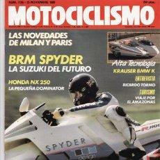 Coches y Motocicletas: REVISTA MOTOCICLISMO Nº 1135 AÑO 1989. PRUEBA: SUZUKI BRM SPYDER. PRUEBA: HONDA NX 250. REPORTAJES Y. Lote 26725657