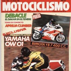 Coches y Motocicletas: REVISTA MOTOCICLISMO Nº 1090 AÑO 1989. PRU: YAMAHA OW 01. APRILIA CLIMBER. BIMOTA YB7.YAMAHA 125 TZR. Lote 25102644