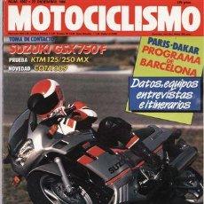 Coches y Motocicletas: REVISTA MOTOCICLISMO Nº 1087 AÑO 1988. PRUEBA: SUZUKI GSX 750 F. PRUEBA: MONTESA COTA 309. PRUEBA: . Lote 26725658
