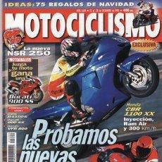 Coches y Motocicletas: REVISTA MOTOCICLISMO Nº 1609 AÑO 1999. PRU: HONDA CBR 1100 XX I. COMP: BMW R 1100S, HONDA VFR 800 FI. Lote 20528853