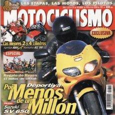 Coches y Motocicletas: REVISTA MOTOCICLISMO Nº 1610 AÑO 1999. PRUEBA: SUZUKI SV 650. SUZUKI 650 S, MALAGUTI YESTERDAY 50.. Lote 20528854