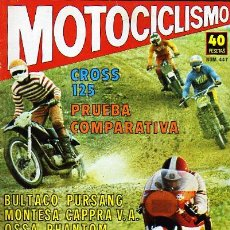 Coches y Motocicletas: MOTOCICLISMO REVISTA. 14 FEBRERO 1976. N 447. CROSS 125 PRUEBA COMPARATIVA. BULTACO. MONTESA.. Lote 14708185