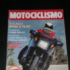 Coches y Motocicletas: MOTOCICLISMO - Nº 1156 - 19 ABR 1990 - BMW K 75 RT / CAGIVA FRECCIA C 12 R / HONDA CRM 125. Lote 25513321