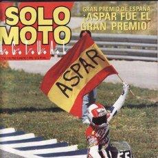 Coches y Motocicletas: REVISTA SOLO MOTO ACTUAL Nº 730 AÑO 1990. PRUEBA: HONDA NX 125.REPORTAJES Y DEPORTE PREGUNTAR.. Lote 21145345