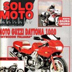 Coches y Motocicletas: REVISTA SOLO MOTO ACTUAL Nº 812 AÑO 1991. PRUEBA: MOTO GUZZI DAYTONA 1000. PRUEBA: KTM GS 125. REPOR. Lote 21257295