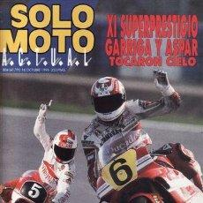 Coches y Motocicletas: REVISTA SOLO MOTO ACTUAL Nº 804 AÑO 1991. PRU: HONDA NR. HONDA CBR SUPERSPORT. GILERA RT 50.. Lote 21276142