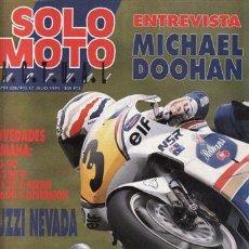 Coches y Motocicletas: REVISTA SOLO MOTO ACTUAL Nº 791 AÑO 1991. PRUEBA: GILERA 125 FREE STLE. BENELLI 125. YAMAHA JOG 90.. Lote 46940248