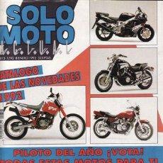 Coches y Motocicletas: REVISTA SOLO MOTO ACTUAL Nº 815 AÑO 1992. PRUEBA: HONDA NSR 500. PRUEBA: HONDA NSR 250. REPORTAJES P. Lote 109489634