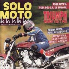 Coches y Motocicletas: REVISTA SOLO MOTO ACTUAL Nº 835 AÑO 1992. PRUEBA: TRIUMPH TRIDENT. PRUEBA: CAGIVA PRIMA. REPORTAJES . Lote 21373418