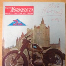 Coches y Motocicletas: REVISTA ESPAÑA MOTOCICLISTA NUMERO 53 MARZO 1956. Lote 15218244