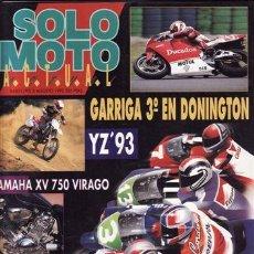 Coches y Motocicletas: REVISTA SOLO MOTO ACTUAL Nº 845 AÑO 1992. PRUEBA: YAMAHA XV 750 VIRAGO. PRUEBA: BIMOTA 500 2T. REPOR. Lote 21511469