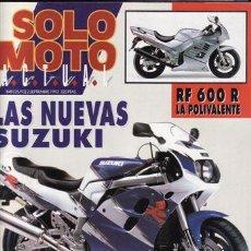 Coches y Motocicletas: REVISTA SOLO MOTO ACTUAL Nº 849 AÑO 1992. PRUEBA: DUCATI 888 SBK. PRUEBA: VESPINO F-9. REPORTAJES Y . Lote 23651576
