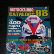 Coches y Motocicletas: MOTOCICLISMO CATALOGO 1998 - HONDA YAMAHA SUZUKI KAWASAKI BMW DUCATI DERBI BIMOTA VESPA APRILIA. Lote 21892757