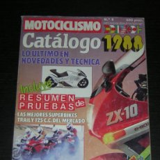 Coches y Motocicletas: MOTOCICLISMO CATALOGO 1988 - HONDA YAMAHA SUZUKI KAWASAKI BMW DUCATI DERBI BIMOTA VESPA APRILIA. Lote 115848742