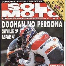 Coches y Motocicletas: REVISTA SOLO MOTO ACTUAL Nº 1050 AÑO 1996. PRUEBA: KAWASAKI VN 1500 VULCAN CLASSIC. REPORTAJES Y DEP. Lote 21931451