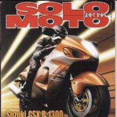 Coches y Motocicletas: REVISTA SOLO MOTO ACTUAL Nº 1166 AÑO 1998. PRU: SUZUKI GSX R 1300. PIAGGIO VESPINO F8. SUZUKI RM 125. Lote 109489151