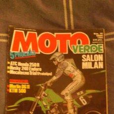 Coches y Motocicletas: REVISTA MOTO VERDE NUM.90 ENERO 1986. Lote 27156125