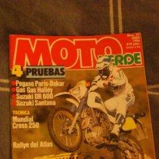 Coches y Motocicletas: REVISTA MOTO VERDE NUM.95 JUNIO 1986. Lote 38796572