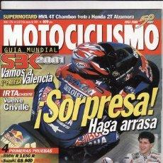 Coches y Motocicletas: REVISTA MOTOCICLISMO Nº 1724 AÑO 2001. PRUEBA: BMW R 1150 R. PRUEBA: SUZUKI GS 500 E. PRUEBA: HYOSUN. Lote 112084263
