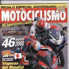 Coches y Motocicletas: REVISTA MOTOCICLISMO Nº 1727 AÑO 2001. PRUEBA: APRILIA RSV MILLE R. SUZUKI BURGMAN 400.. Lote 22367855