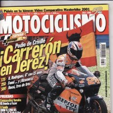 Coches y Motocicletas: REVISTA MOTOCICLISMO Nº 1733 AÑO 2001. PRU: BMW K 1200 RS. HONDA XR 650 R SUPERMOTARD.. Lote 54360516
