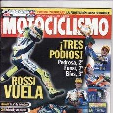 Coches y Motocicletas: REVISTA MOTOCICLISMO Nº 1795 AÑO 2002.PRU: APRILIA RSV 1000 R HAGA RÉPLICA.TRIUMPH SPRINT RS 955 I.. Lote 22477467