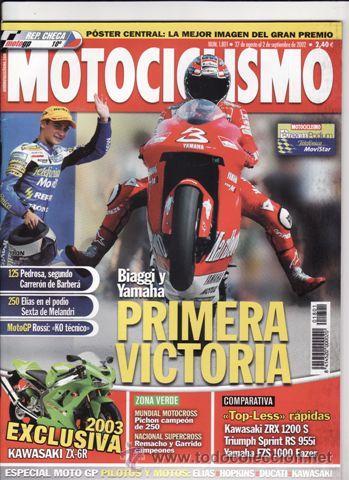 REVISTA MOTOCICLISMO Nº 1801 AÑO 2002. COMPARATIVA: KAWASAKI ZXR 1200S, TRIUMPH SPRINT RS 955I, (Coches y Motocicletas - Revistas de Motos y Motocicletas)