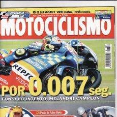 Coches y Motocicletas: REVISTA MOTOCICLISMO Nº 1809 AÑO 2002. COMP: DUCATI 999, HONDA VTR 1000 SP 2 Y SUZUKI GSXR 750.. Lote 38260172