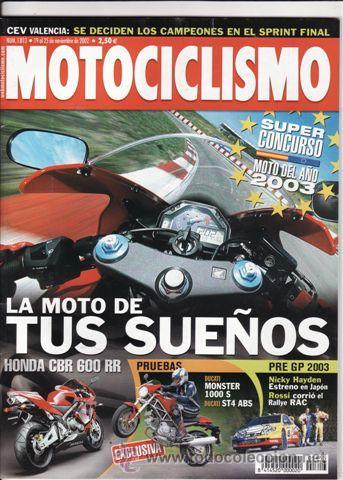REVISTA MOTOCICLISMO Nº 1813 AÑO 2002. PRUEBA: SUZUKI GSVR. DUCATI MONSTER 1000S. TRIIUMPH TT 600. (Coches y Motocicletas - Revistas de Motos y Motocicletas)