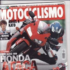 Coches y Motocicletas: REVISTA MOTOCICLISMO Nº 1835 AÑO 2003P:DUCATI MULTISTRADA.HONDA CBR 600 RR.PEUGEOT JET FORCE 50/125.. Lote 22545776