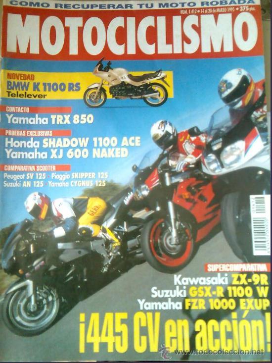 REVISTA MOTOCICLISMO Nº1412-BMW K 1100 RS TELELEVER-HONDA SHADOW 1100 ACE (Coches y Motocicletas - Revistas de Motos y Motocicletas)
